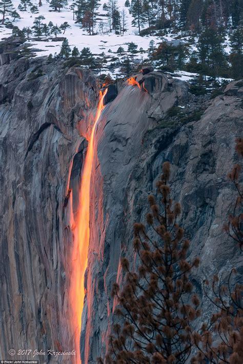 Yosemite National Park Stunning Firefall Daily Mail