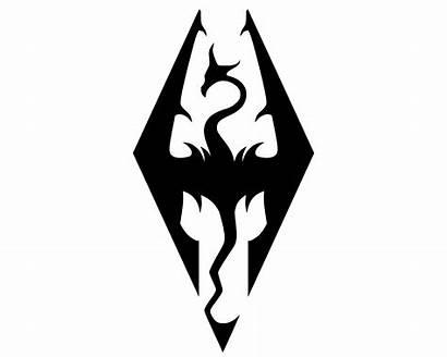 Skyrim Emblem Symbol Meaning 1000logos Dragon Tattoo