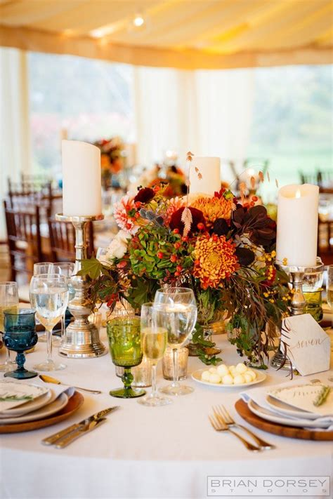 rustic rhode island wedding  warm fall colors modwedding