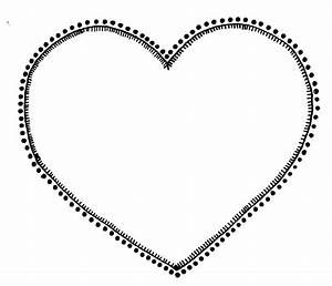 Cute Heart Clipart Black And White - ClipartXtras