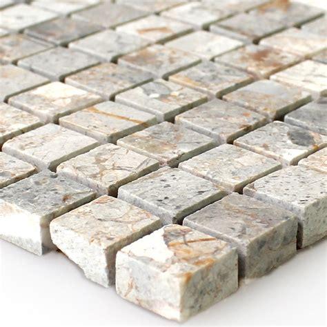 Naturstein Mosaik Fliesen Marron Gold Poliert Ran48024