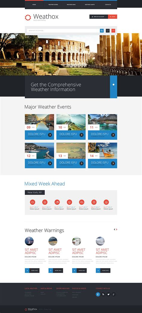 Bid Websites Weather Forecast Web Template