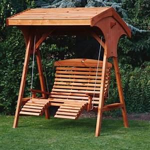 Garden swings roofed comfort wooden garden swing seat uk for Wooden garden swing chair