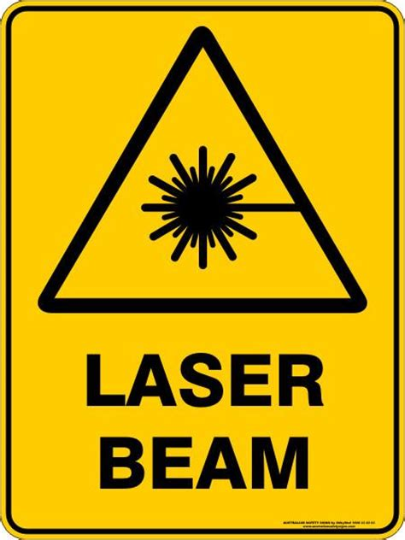 laser beam australian safety signs