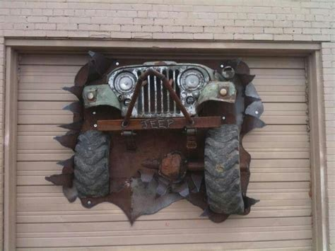 jeep art jeep coolest garage door ever its a jeep thing