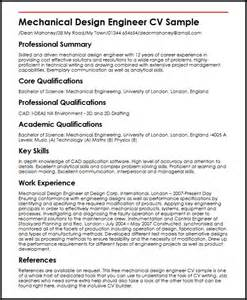 mechanical design engineer and gas resume mechanical design engineer cv sle myperfectcv
