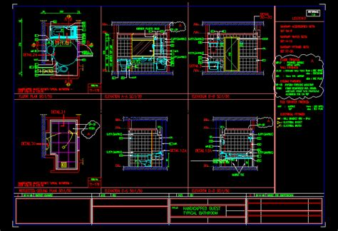 handicapped typical bathroom dwg block  autocad