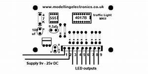 2 4 way traffic light control circuit With railway traffic signal light controller circuit board n gauge oo gauge