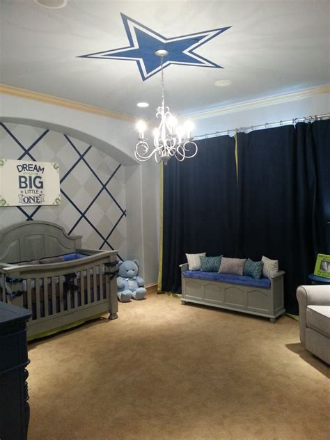 dallas cowboys baby nursery room designed by bedazzled