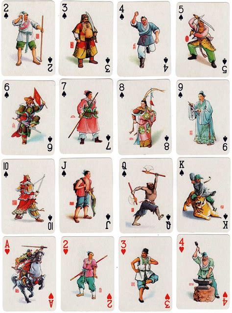 characters   water margin  world  playing cards