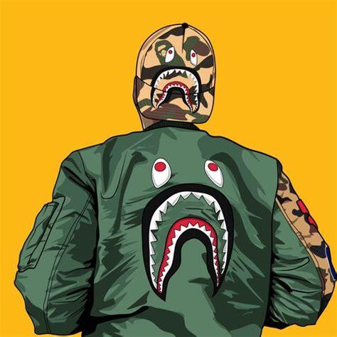 Image Result For Bape Sharky Bape Wallpapers Cartoon