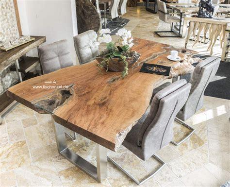 massivholz esstisch aus einem baumstamm 200 cm der tischonkel
