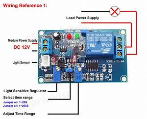 Dc12v Adjustable Light Sensor Control Relay Switch Time