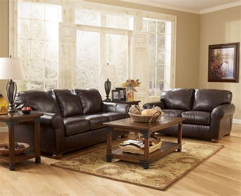 Ideas For Leather Living Room by Brown Leather Living Room Brown Leather Sofa In