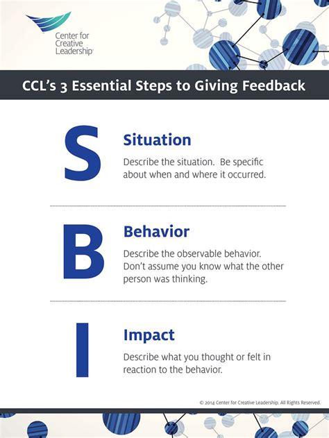 sbi  ccls model  delivering effective feedback