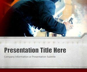 welding red powerpoint template  powerpoint