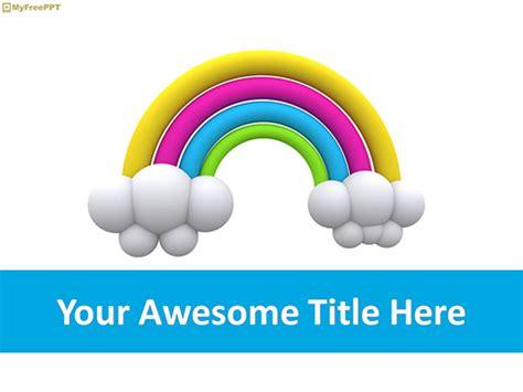 rainbow powerpoint templates myfreepptcom