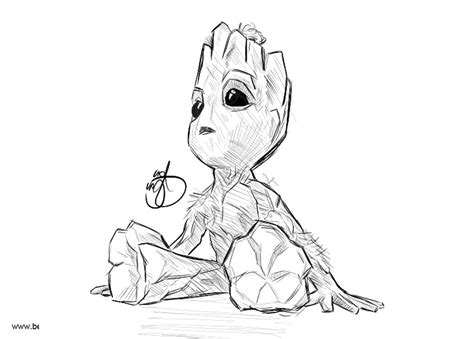 baby groot coloring pages fan drawing pictures
