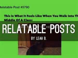 Relatable Posts By Leah Bethke