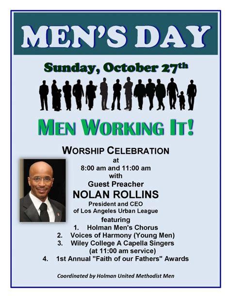 mens day  holman united methodist church