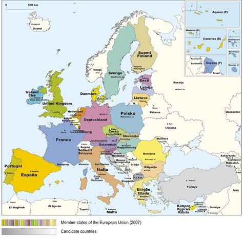 europe map hd  countries