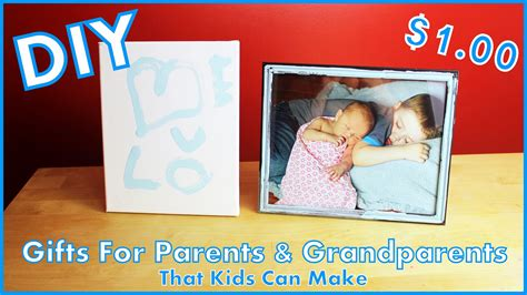 diy gifts for parents grandparents that kids can make
