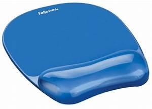 Fellowes repose poignet avec tapis de souris crystal gel for Tapis de souris personnalisé avec canapé pour professionnel