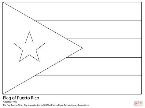 Dibujo De Bandera De Puerto Rico Para Colorear Dibujos