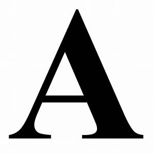 """The Letter A in Black Times New Roman Serif Font Typeface"
