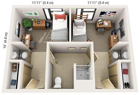 laurel village single suite floor plan top view skool