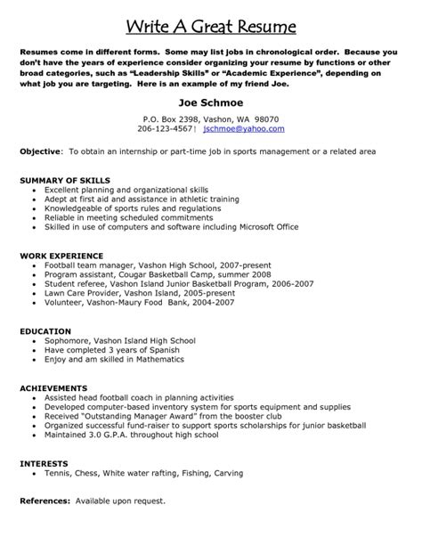 how to type a resume sles of resumes