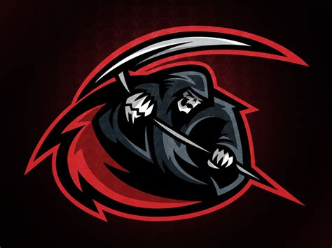 reaper sports logo pre   mike dribbble dribbble