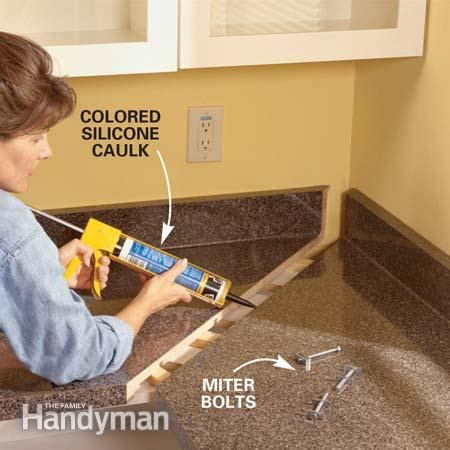 how to cut kitchen countertop for sink how to install a countertop the family handyman 9371