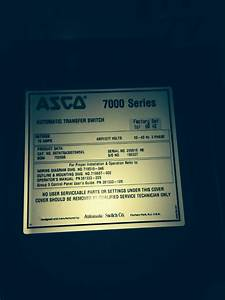 Asco 7000 Series Automatic Transfer Switch 70 Amp 480y  277 Volt
