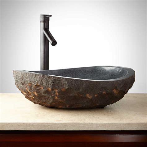photos of vessel sinks chiseled uba tuba granite vessel sink bathroom