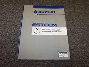 1998 1999 2000 2001 Suzuki Esteem Sedan Electrical Wiring