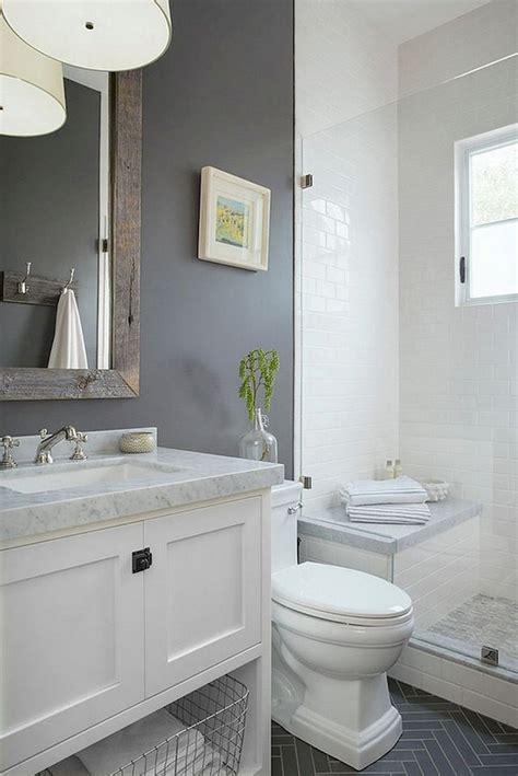 53+ Amazing Modern Farmhouse Small Master Bathroom Ideas