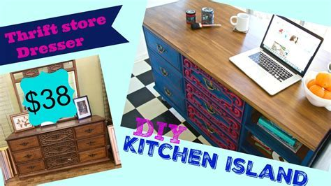 How to make a Kitchen Island from a Thrift store dresser