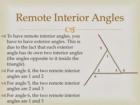 remote interior angles remote interior angles geometry definition