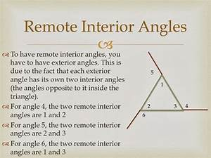 Remote interior angles geometry definition for Remote interior angles geometry definition