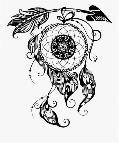 Catcher Mandala Dream Clipart Vector Svg Dreamcatcher
