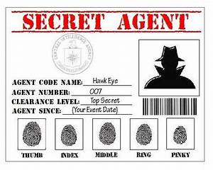 secret agent badges google search 007 pinterest With spy id card template