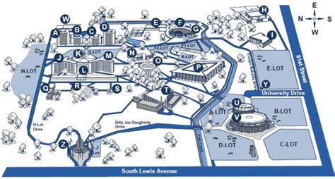 Campus Map Oral Roberts University A Christian College