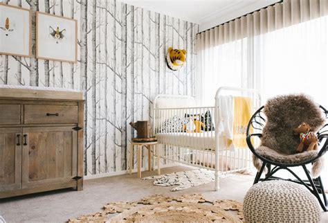 chambre foret chambre bébé thème forêt une déco et originale