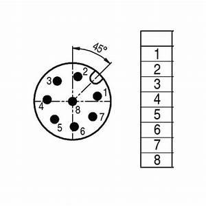 Connecteur M12 8 Broches M U00e2le