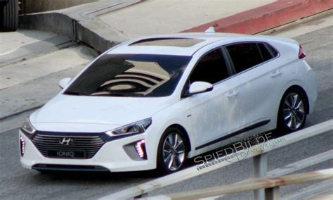 hyundai ioniq spied  shoot  california