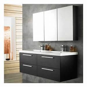 Meuble Vasque De Salle De Bain : ensemble meubles de salle de bains double vasque quartet rf014c salle de bain wc ~ Melissatoandfro.com Idées de Décoration