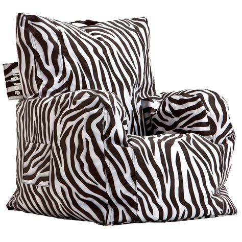 dreamfurniture big joe cuddle chair zebra