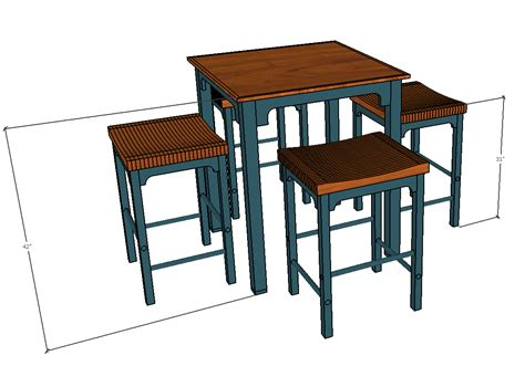 pub table plans woodwork city  woodworking plans