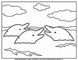 Dolphin Coloring Dolphins Printable Simple Drawing Outline Clipart Surface Printables Remarkable Templates Kleurplaten Silhouette Appear Afkomstig Van Preschool Getdrawings Featuring sketch template